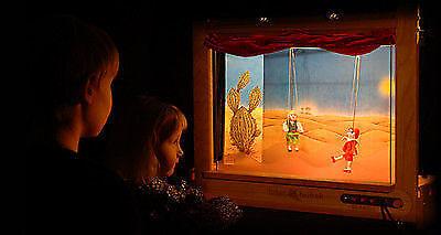 PUPPET THEATRE - 18 marionetter, 30 steg, handgjorda av CZECH -REPUBLIKEN