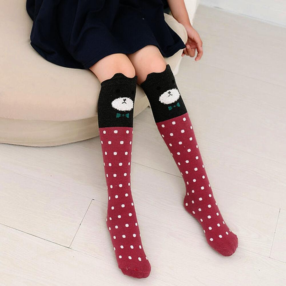 Cute Baby Kids Girls Knee High Socks Tights Cartoon Animal