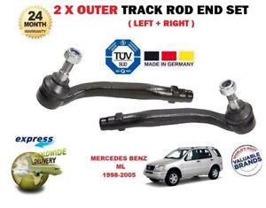Für Mercedes ML230 ML270 ML320 ML350 ML430 98-05 2x Äußere Spurstange Stange End