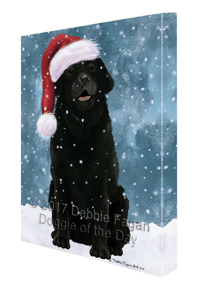 Let it Snow Christmas Holiday Labrador Dog Canvas Wall Art T45