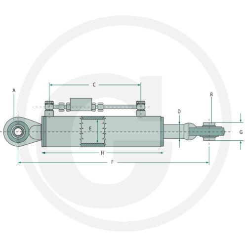 Hydraulischer Oberlenker Kat.2 550-830mm Hydraulikzylinder Schlepper Schlauchset