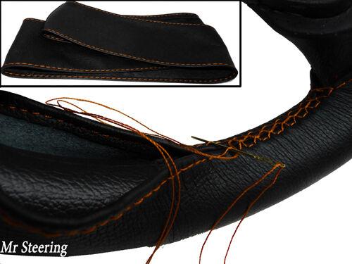 Pour Armstrong Siddeley Whitley volant cuir véritable couverture orange Stitch