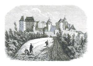 Vintage-Castle-Illustration-DIGITAL-Counted-Cross-Stitch-Pattern-Needlepoint