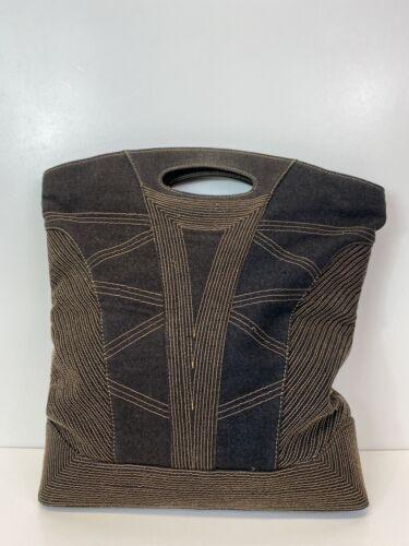 Rare Vtg Alexander McQueen AW2002 Denim Stitch Bag