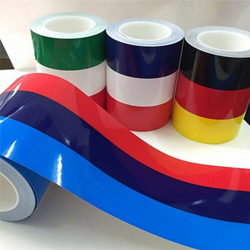 Fashion Top Flag Stripe 3 Colors Roof Hood Car Decal Colored Strip Sticker BH