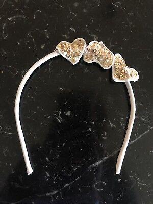Bn Ragazze Wild & Splendido Oro Sequin Heart Cerchietto Hairband-