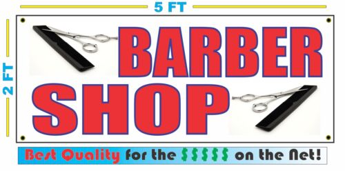 Full Color BARBER SHOP Banner Sign NEW Larger Size Best Quality for The $$$