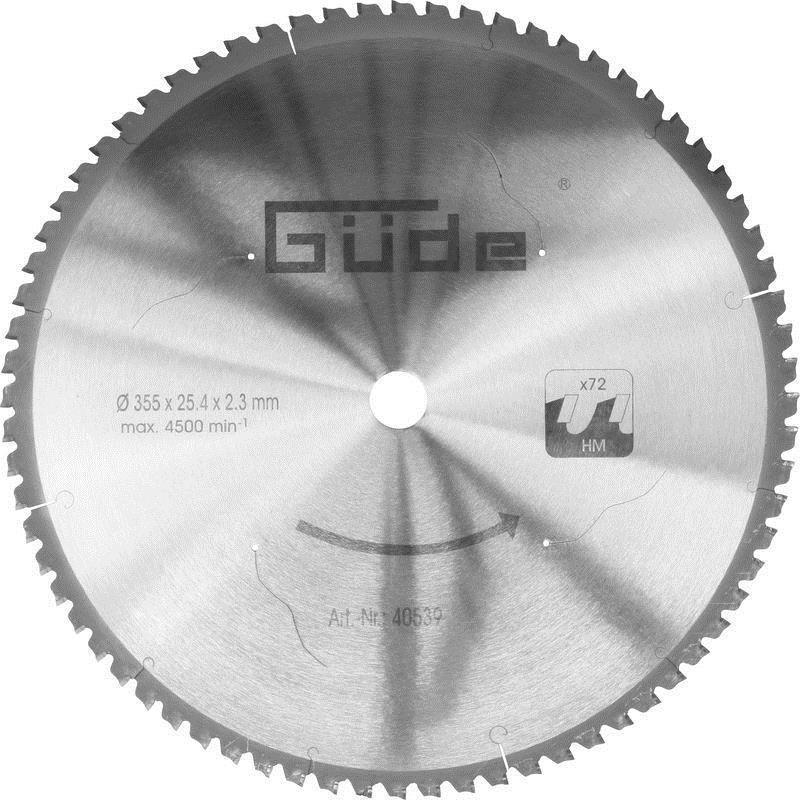 Güde Metallkreissägeblatt 350 T Metallkreissäge HM für Güde Kreissäge G40549