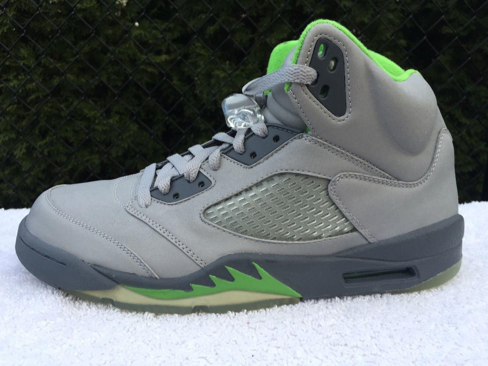 2006 Nike Air Jordan Retro V 5 Green Bean DEADSTOCK Size 10.5 -136027-031
