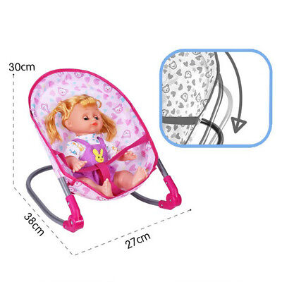 Simulation Furniture Playset Baby Infant Doll Crib Bed Kids Play House Toy