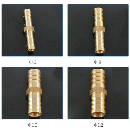 6-12mm Schlauchverbinder Messing Schlauchstutzen Schlauchtülle Gerade Verbinder