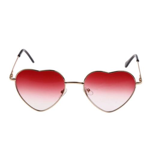 Damen Sonnenbrille Herzförmige Gläser Gradient Herzform Sunglasses Rot