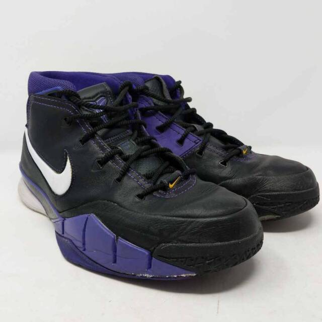 Nike Zoom Mens Kobe 1 Protro Athletic Shoes Black Purple Lace Up AQ2728-004 10