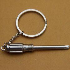 Piccoli stile Mini 3 in 1 in acciaio inox Cacciavite portachiavi NUE