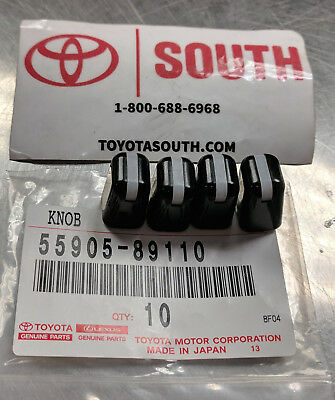 OEM Toyota Heater Control Knobs for Multiple Vehicles 55905-89110 Set of 4