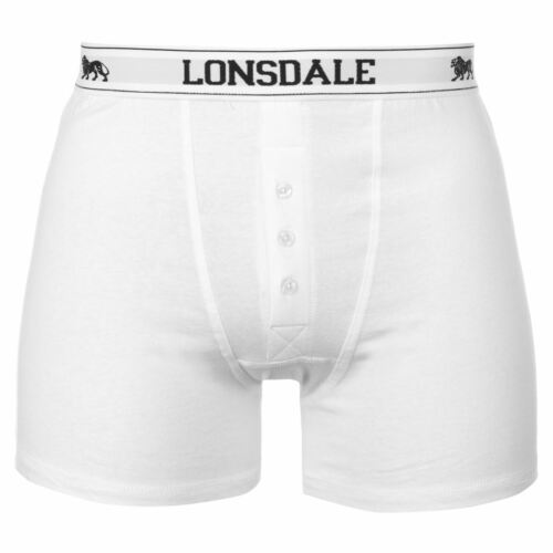 4XL NEW GUYS  BLACK//WHITE  2 PACK LONSDALE BOXER UNDERWEAR SHORTS SMALL