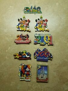 9-Walt-Disney-World-Magic-Kingdom-Magnets-2001-2000-100-Years-Mickey-Mouse
