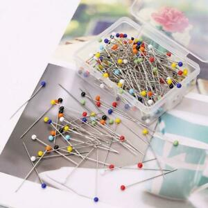 250pcs Sewing Pins Ball Glass Head Pins Straight Quilting Pins DIY Sewing Cr@WY