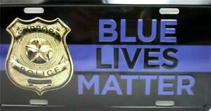 Lot of 24 Support Police Blue Lives Matter Car Truck Tag Metal License Plate