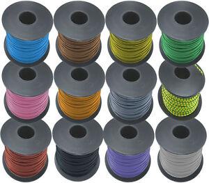 100m-Litze-1x-0-5mm-12-Farben-Rohs-konforme-deutsche-Reinkupferware