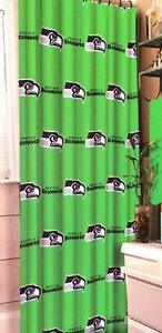 NFL Seattle Seahawks Fabric Shower Curtain NEW