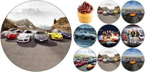 Top Gear Auto Tortenbild Tortenaufleger Party Deko Geburtstag Tortendeko Muffin
