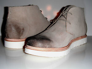 $260 New Tsubo Men Halian Putty Suede Comfortable Desert Lace Up Boot sz 10.5M