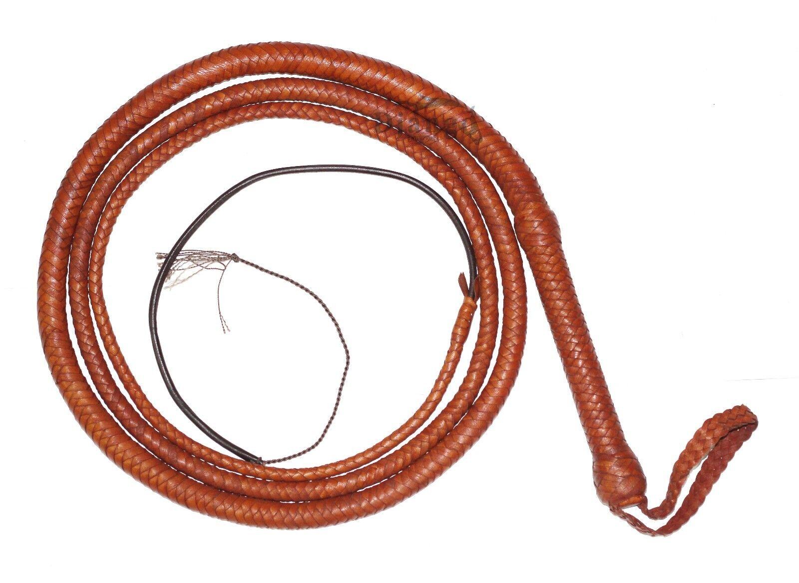 10 pieds 12 tresses Grain supérieur vachette cuir personnalisé BULLWHIP ventre et traversin
