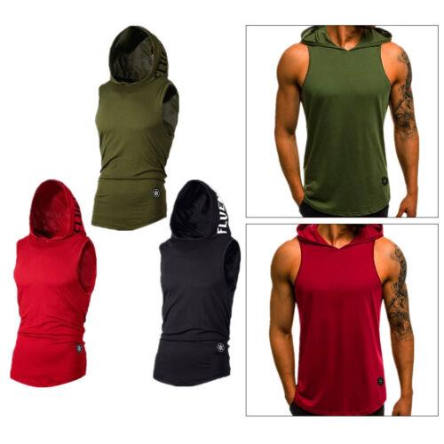 Sweat-Shirt à Capuche Hommes Sport Tee-Shirt Chemise Homme Casual Slim sans