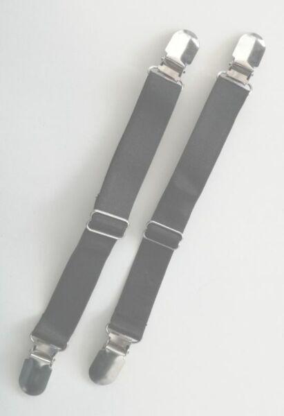 7,49€/Stk  2 Strumpfhalter einfach 20-31cm, Clip Strapshalter Strumpfband