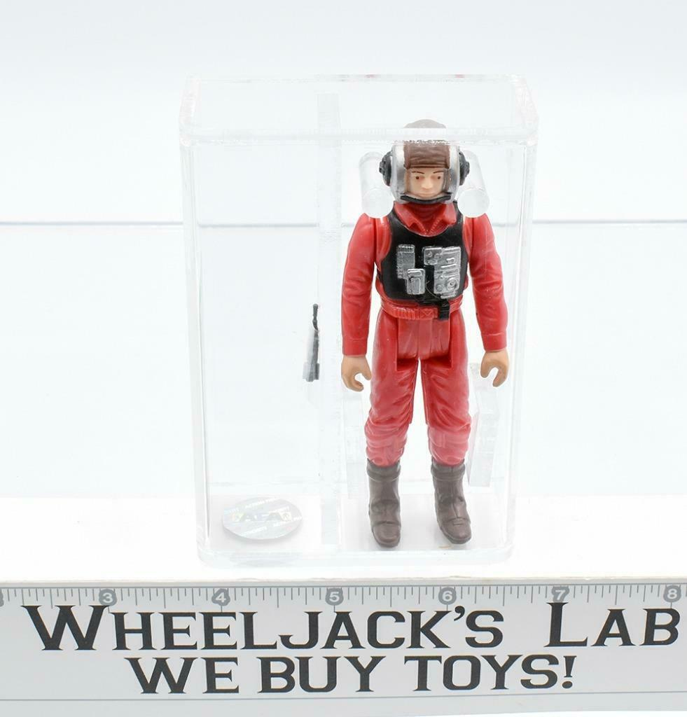 1984 B-Wing Pilot AFA 80+ NM Star Wars Kenner Action Figure Vintage