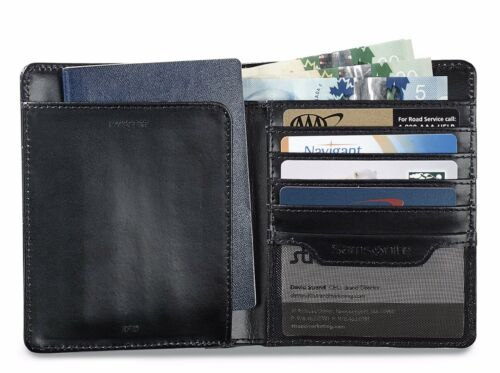 Samsonite Leather Travel Wallet with RFID Technology ID Theft Protection New