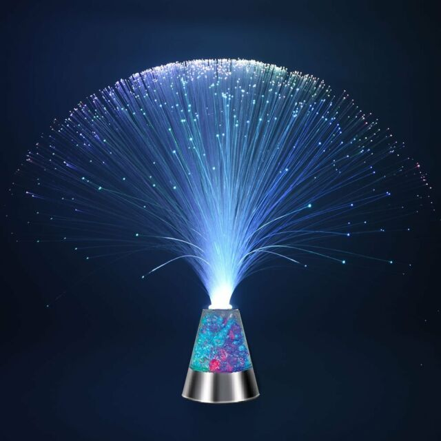 Multicolor Fiber Optic Light Colourful Changing Lamp Crystal Bright Decor Gift