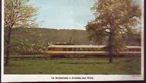 1970 -- LE TURBOTRAIN A GROSLEY SUR RISLE H073 - France - 1970 -- LE TURBOTRAIN A GROSLEY SUR RISLE il ne s'agit pas d'une carte postale , mais d'un beau document paru dans la rare vie du rail en 1970 le document GARANTI D'EPOQUE est en tres bon état et présenté sur carton d'encadrement format 205 X  - France