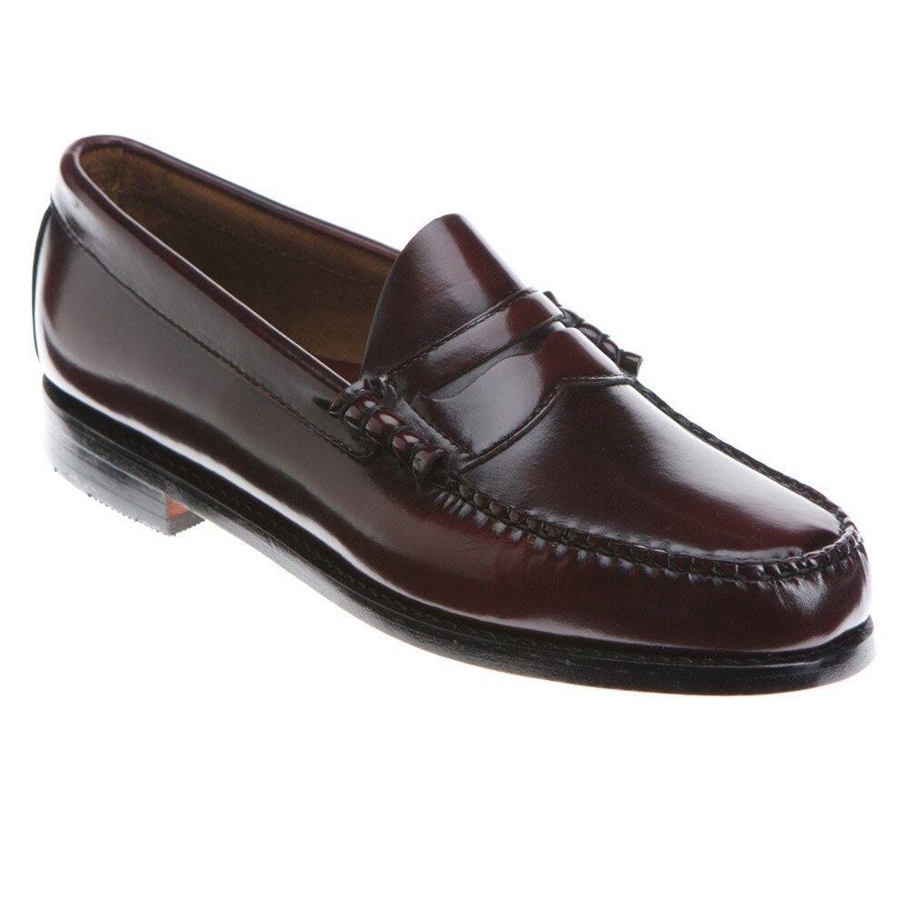 Men's Bass SlipOn Penny Loafers shoes Larson Burgundy Leather