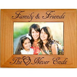 Details About Personalized Family Wood Picture Frames 4x6 5x7 8x10 Custom Engraved Gifts Photo