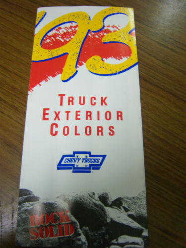 BOX 472 MINT 1993 CHEVROLET CHEVY TRUCK EXTERIOR COLORS BROCHURE NEW