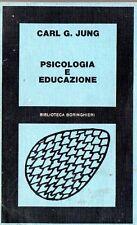 PSICOLOGIA E EDUCAZIONE CARL GUSTAV JUNG 1979 BORINGHIERI (JA16)