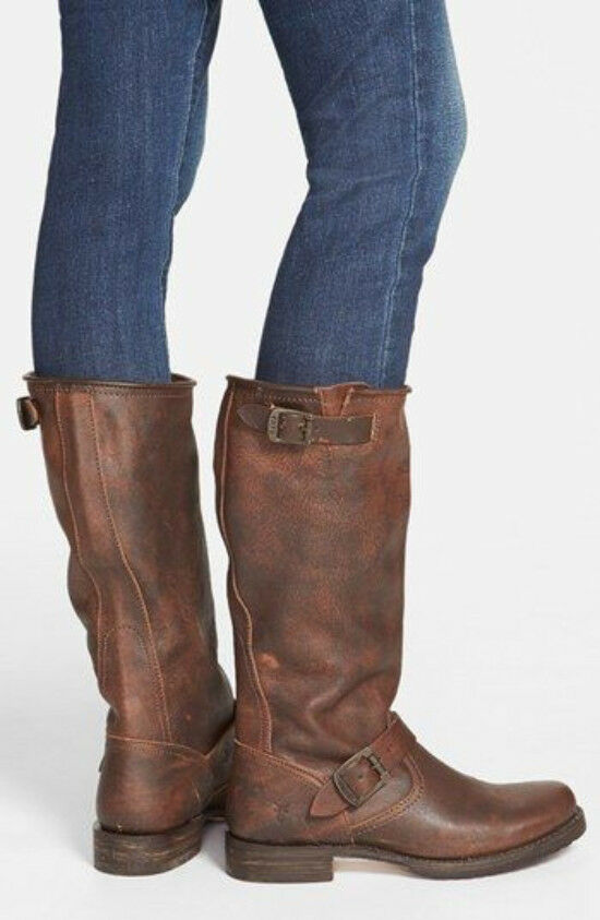 Frye  368 Size 9.5 Cognac Brown Leather Veronica Slouch Slouch Slouch Boots Riding Outdoor 2566af