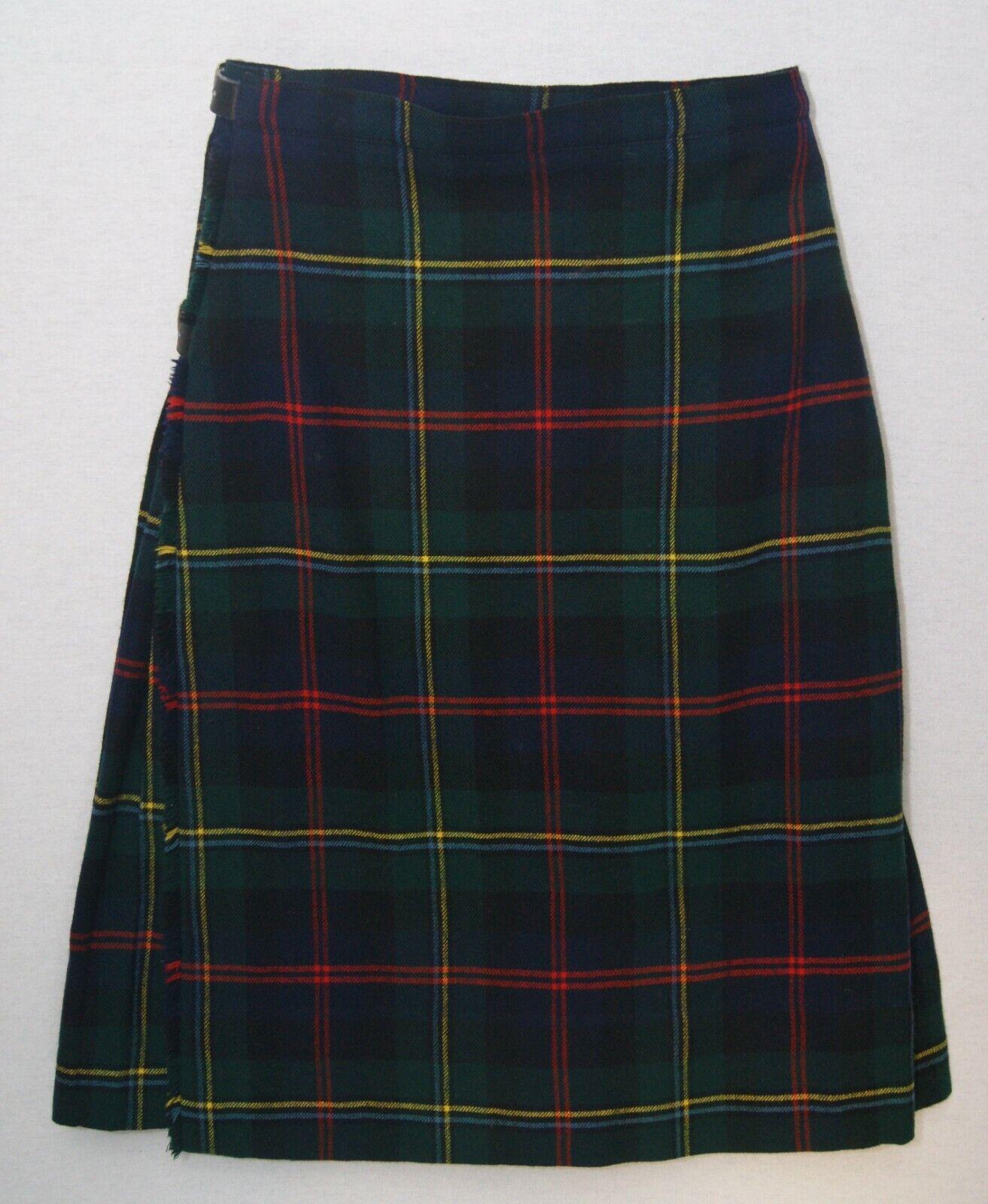 Malcolm Modern tartan child's Scottish made pure wool kilt 24