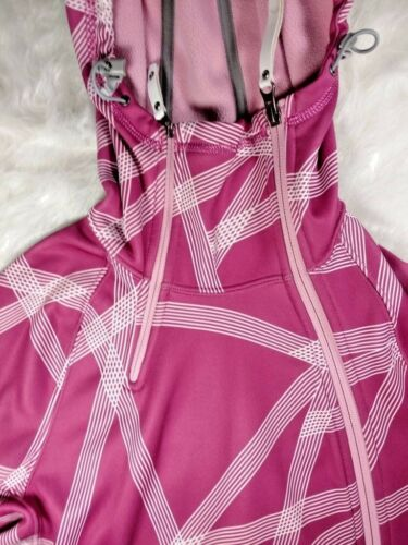 Kvinders Face White Small Jacket The Fleece Polyester North Striped And Lined Pink rqYHr