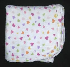 "Koala Baby pink purple green Hearts Thermal Baby Blanket Waffle Weave 31x35/"""
