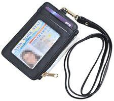 Yeeasy ID Badge Holder With Neck Lanyard PU Leather Wallet Case 1 Window 4