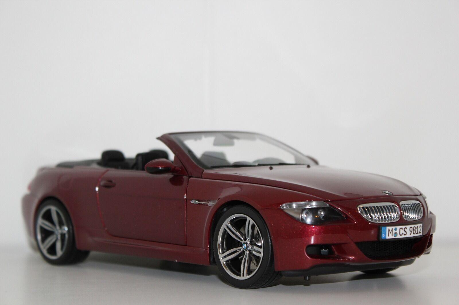 Kyosho BMW M6 E64 cabrio Indianapolis rot 80430417423 1 18 Dealer Edition
