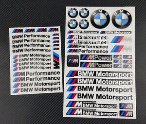 mpower aufkleber blatter 53 stickers bmw m performance felgen m3 m5 motorsport ebay. Black Bedroom Furniture Sets. Home Design Ideas