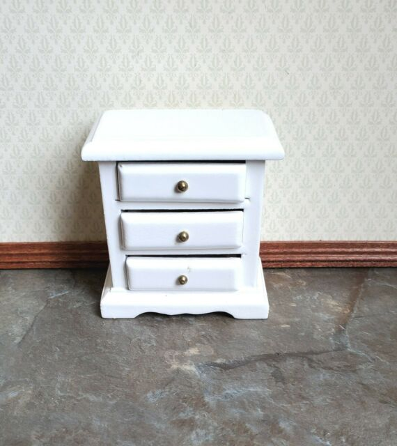 1:12 Scale Dollhouse Mini Table 3 Drawers Miniatures Furniture Accessories