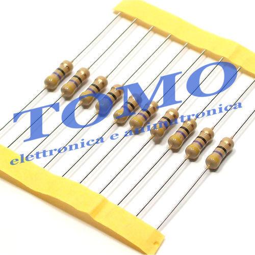 Resistenza Resistore 1R 1ohm 1//2W 5/% carbone lotto di 20 pezzi