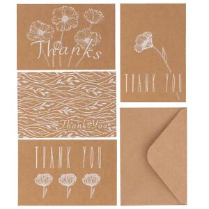 Kraft-Thank-You-Cards-With-Envelopes-Bulk-Pack-Of-36-Greeting-Cards-Notes