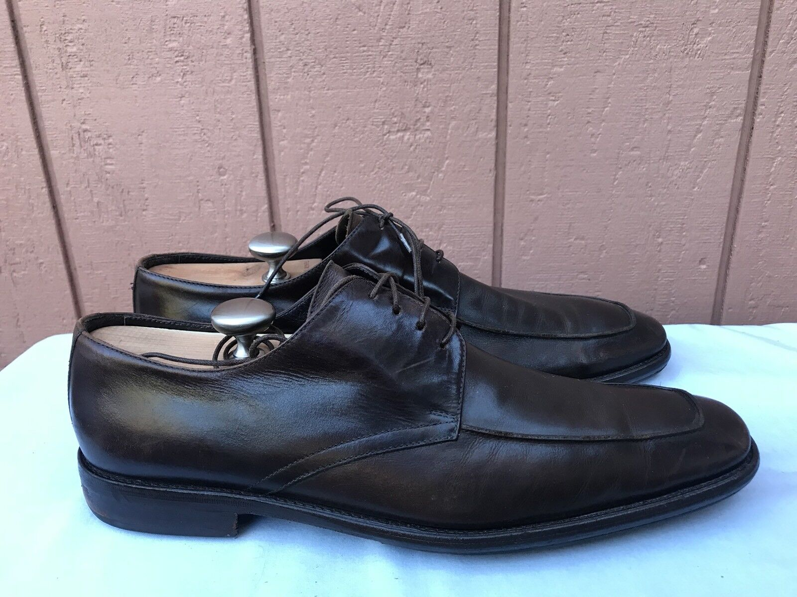 TO BOOT NEW YORK Adam Derrick Brown Square Toe shoes Lace Up Men's Sz US 12M A2
