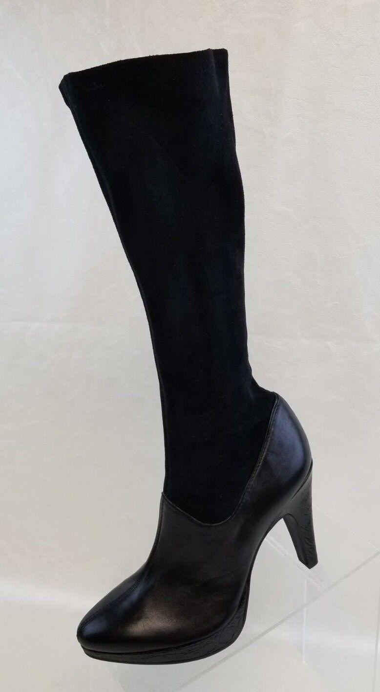 Garanzia di vestibilità al 100% Gianni Bini Bini Bini Knee High Stretch Heel stivali donna nero Leather Microsuede Pull On  tutti i prodotti ottengono fino al 34% di sconto